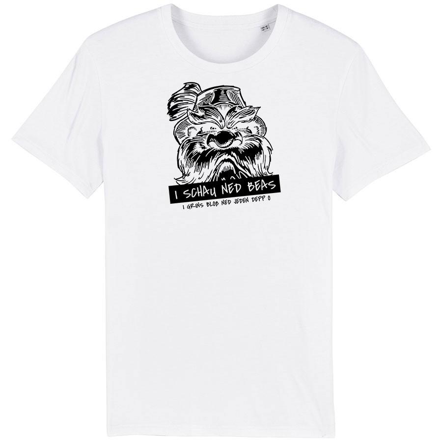 I schau ned beas Herren T-shirt - Fehldruck