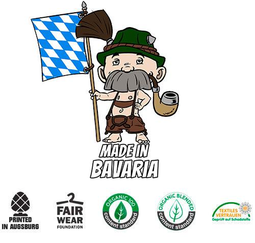 Made in Bavaria Herren T-shirt Datschi Trachten