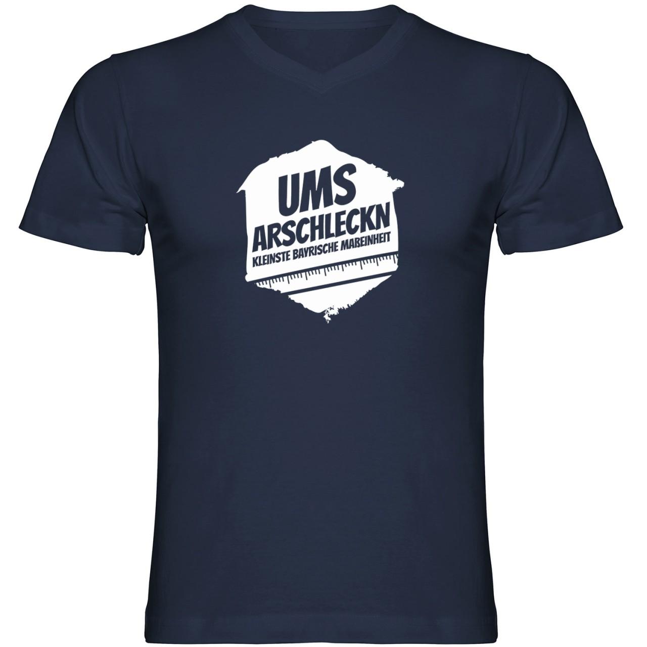 Ums Arschleckn Tshirt V-Ausschnitt