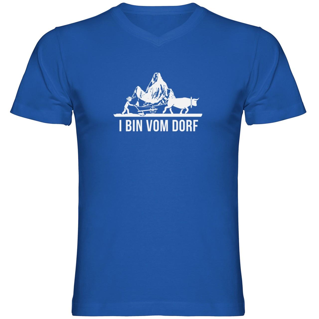 I bin vom Dorf Herren Tshirt V-Ausschnitt